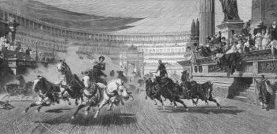 Chariot Race Under Way at the Circus Maximus Rome