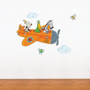 Friends in Flight Wall Decal