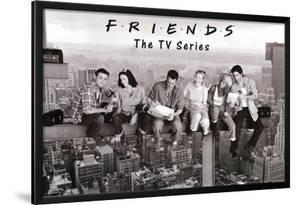 Friends Lunch on Skyscraper over New York TV Poster Print