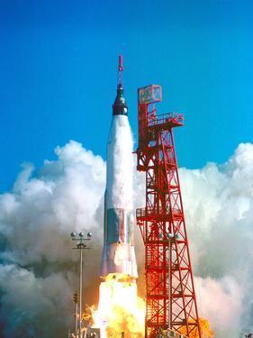 Friendship 7 Spacecraft Launches on a Mercury-Atlas Rocket on Feb. 20 1962