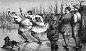 Frieslanders Skate 1871 by E Ronjat