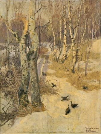 Woods Covered with Snow, 19th Century
