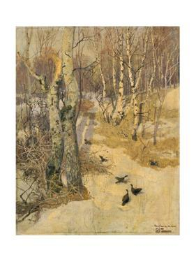 Woods Covered with Snow, 19th Century by Frits Thaulow