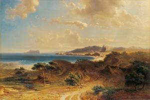 Beach at Estepona with a View of the Rock of Gibraltar by Fritz Bamberger