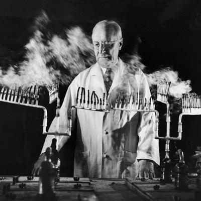 Doctor Evarts Graham Conducting Research on Cigarette Smoking and Lung Cancer, 1953