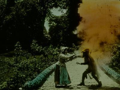 Frame of Hand-Tinted French Silent Film
