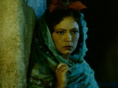 Frame of Hand-Tinted Silent Film