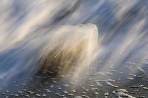 Waves on beach, blurred movement, Sanibel Island, Florida by Fritz Polking