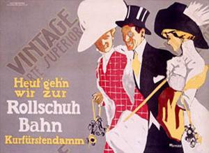 Rollschuh Bahn by Fritz Rumpf