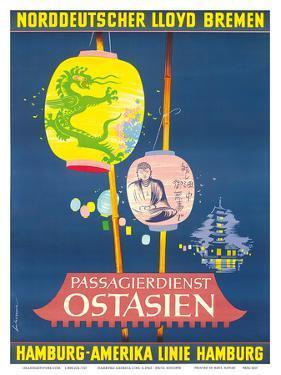 Hamburg America Line, Ostasien c.1962 by Fritz Schoppe