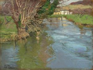 A Stream in Spring by Fritz Thaulow