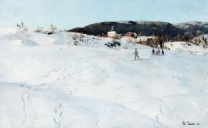 A Winter's Day in Norway, 1886 by Fritz Thaulow