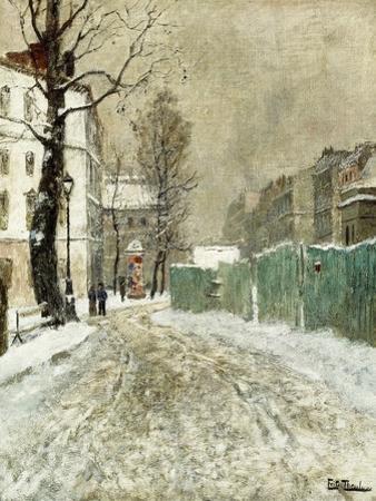 Back Street, Montmartre by Fritz Thaulow