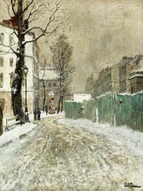 Back Street, Montmartre by Fritz Thaulow
