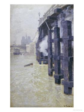 La Seine En Decembre, circa 1892 by Fritz Thaulow