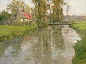River Landscape, C.1897 by Fritz Thaulow