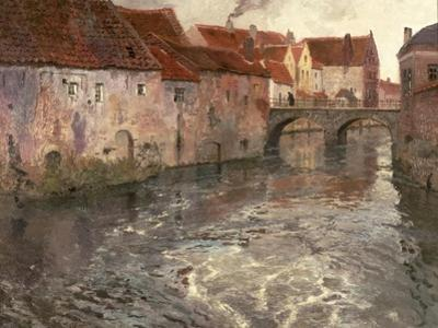 The Bridge at Antwerp (Or Oudenard), 1902 by Fritz Thaulow