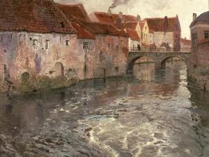 The Bridge at Antwerp (Or Oudenard), 1902 by Fritz Thaulow