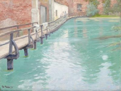 The Mills at Montreuil-Sur-Mer, Normandy, 1891 by Fritz Thaulow