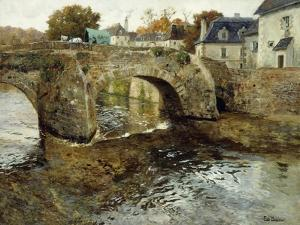 The Old Stone Bridge by Fritz Thaulow