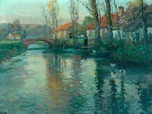The River by Fritz Thaulow