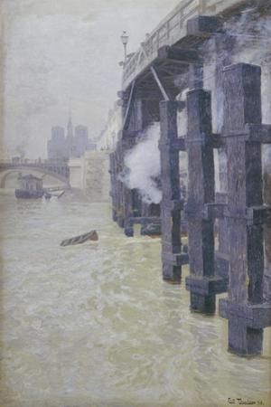 The Seine in December, 1893 by Fritz Thaulow