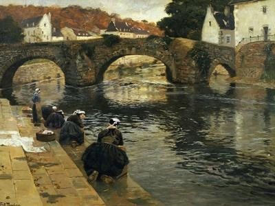 Washerwomen in the Morning at Quimperle, 1902