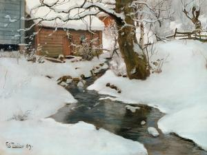 Winter on the Isle of Stord, 1889 by Fritz Thaulow