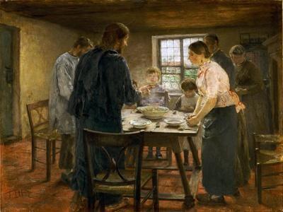Le Christ chez les paysans-Christ in a farmers home