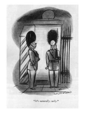 """""""It's naturally curly."""" - New Yorker Cartoon by Fritz Wilkinson"""