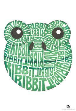 Frog Ribbit Text Poster