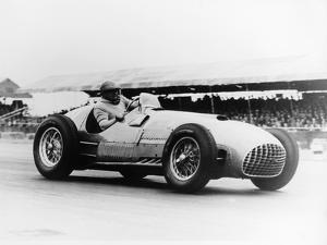 Froilan Gonzalez Driving a Ferrari, Early 1950S