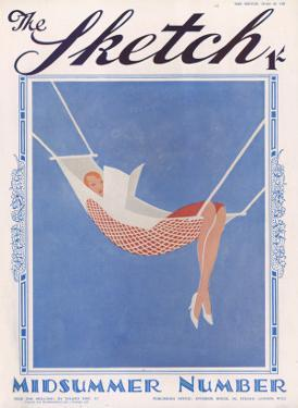 Front Cover Illustration Showing a Lady Relaxing in a Hammock Reading a Book