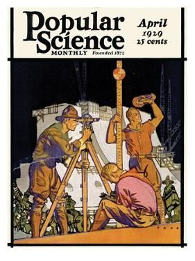 Front Cover of Popular Science Magazine: April 1, 1929