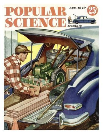 Front cover of Popular Science Magazine: April 1, 1949