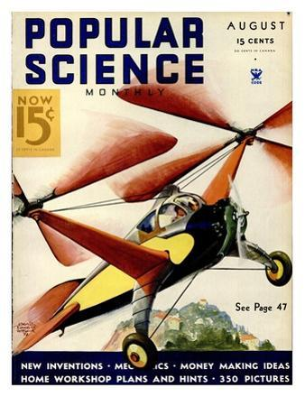 Front Cover of Popular Science Magazine: August 1, 1930