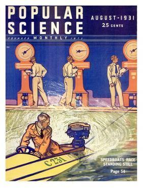 Front cover of Popular Science Magazine: August 1, 1931