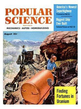 Front cover of Popular Science Magazine: August 1, 1950