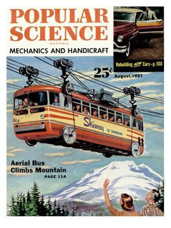 Front Cover of Popular Science Magazine: August 1, 1951