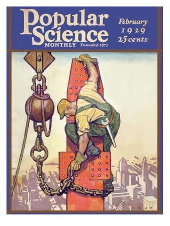 Front Cover of Popular Science Magazine: February 1, 1929