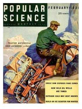 Front Cover of Popular Science Magazine: February 1, 1931