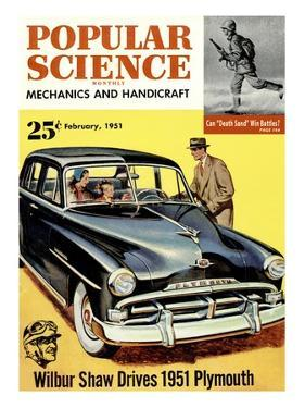 Front cover of Popular Science Magazine: February 1, 1951