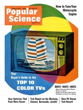 Front cover of Popular Science Magazine: February 1, 1968