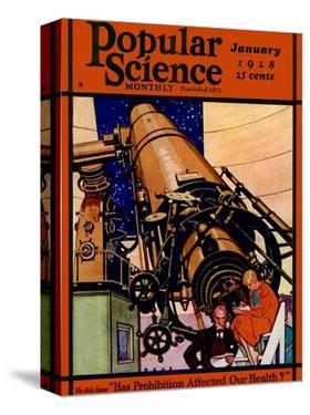 Front Cover of Popular Science Magazine: January 1, 1928