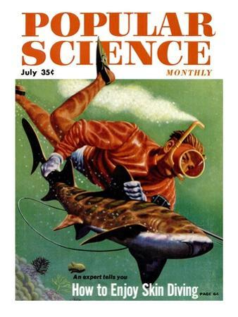 Front Cover of Popular Science Magazine: July 1, 1950