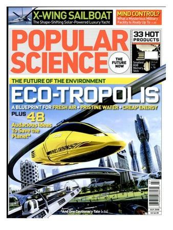 Front cover of Popular Science Magazine: July 1, 2008