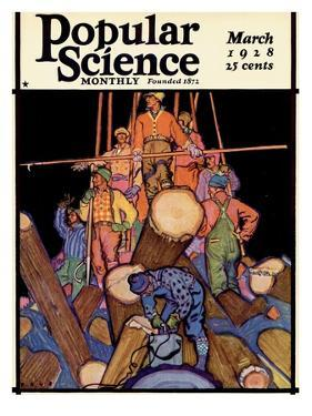 Front Cover of Popular Science Magazine: March 1, 1928