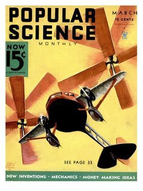 Front Cover of Popular Science Magazine: March 1, 1930