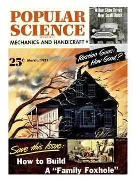 Front cover of Popular Science Magazine: March 1, 1951
