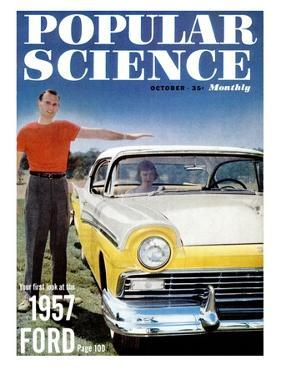 Front cover of Popular Science Magazine: October 1, 1957